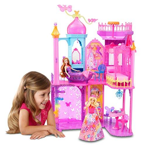 Mattel Barbie BLP42 - Barbie und die geheime Tr Groes Prinzessinnen-Schloss, inklusive Mbel und Zubehr